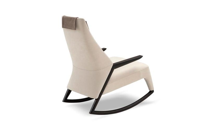 Modern Amura 'Coccolo' Armchair in White by Maurizio Marconato & Terry Zappa For Sale