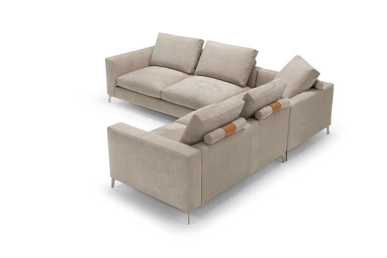 Modern Amura Dorsey Composition Modular Sofa in Leather by Amuralab For Sale