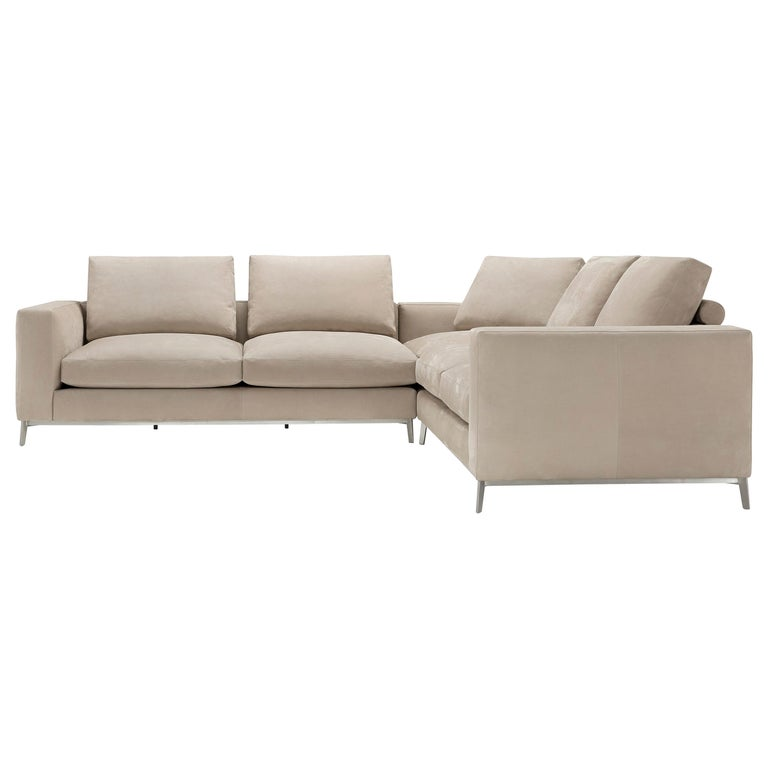 Amura Dorsey Composition Modular Sofa in Leather by Amuralab For Sale