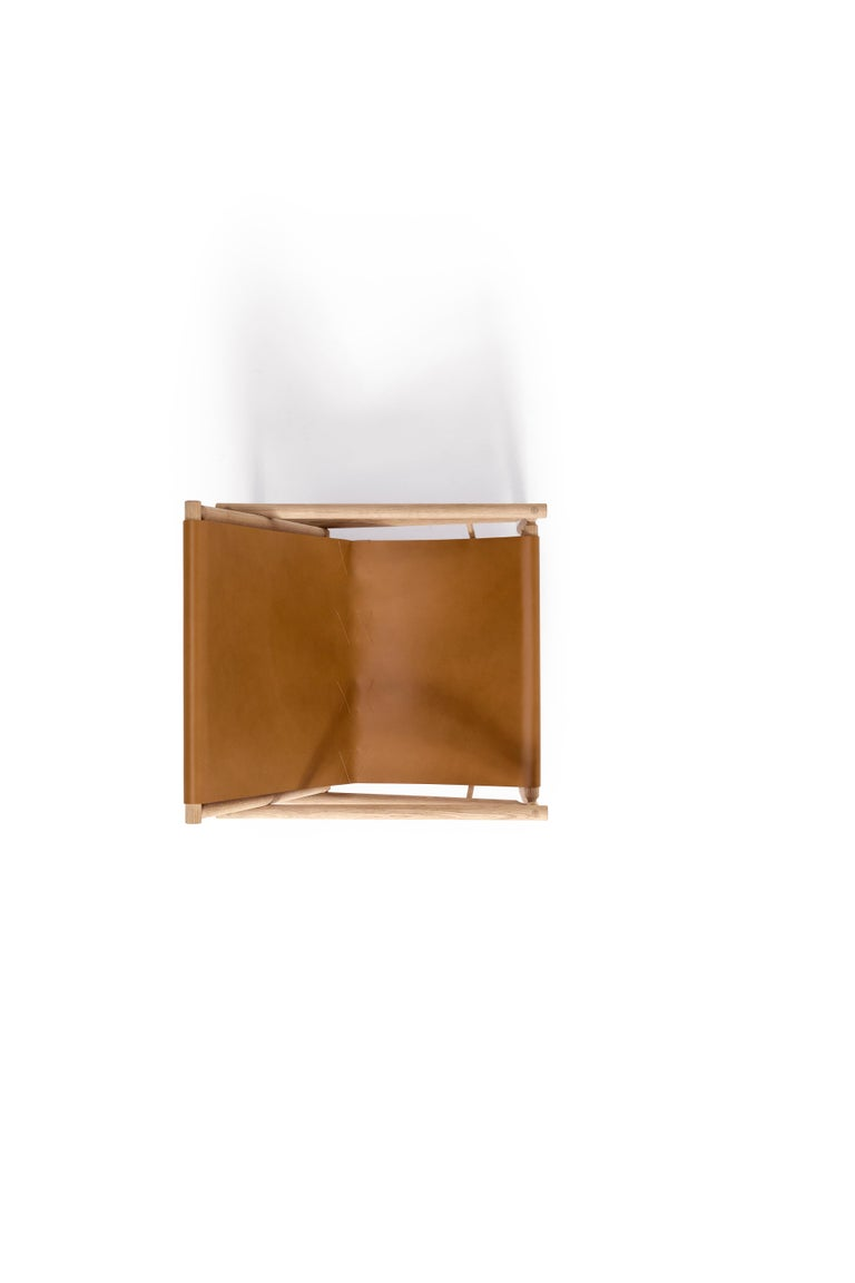 Modern Amura 'Ease' Chair in Light Brown Leather by Gareth Neal For Sale