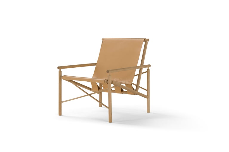Amura 'Ease' Chair in Light Tan Leather by Gareth Neal 2