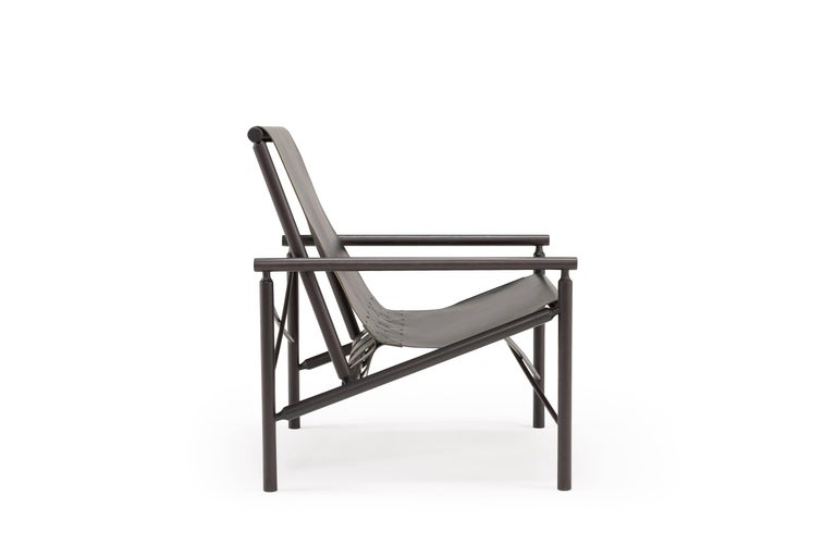 Contemporary Amura 'Ease' Chair in Oak and Leather by Gareth Neal For Sale