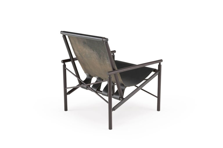 Amura 'Ease' Chair in Oak and Leather by Gareth Neal For Sale 1