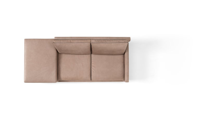 Modern Amura 'Elsa' Sofa in Taupe with Connected Table by Luca Scachetti For Sale