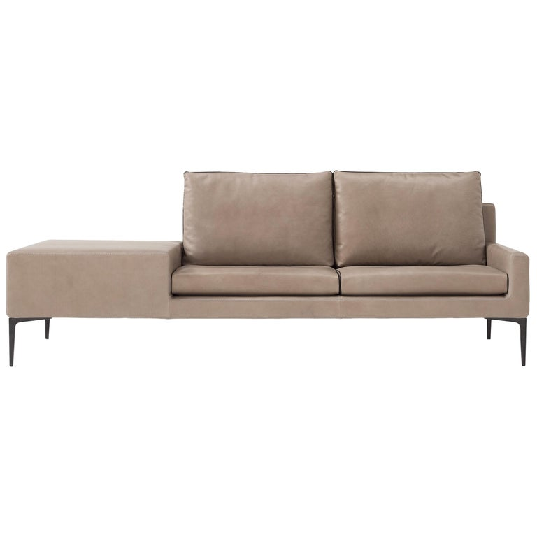 Amura 'Elsa' Sofa in Taupe with Connected Table by Luca Scachetti For Sale
