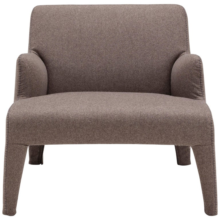 Amura 'Frida' Armchair in Brown Wool by Maurizio Marconato & Terry Zappa For Sale