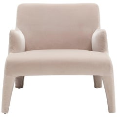 Amura 'Frida' Armchair in Ivory Velvet by Maurizio Marconato & Terry Zappa