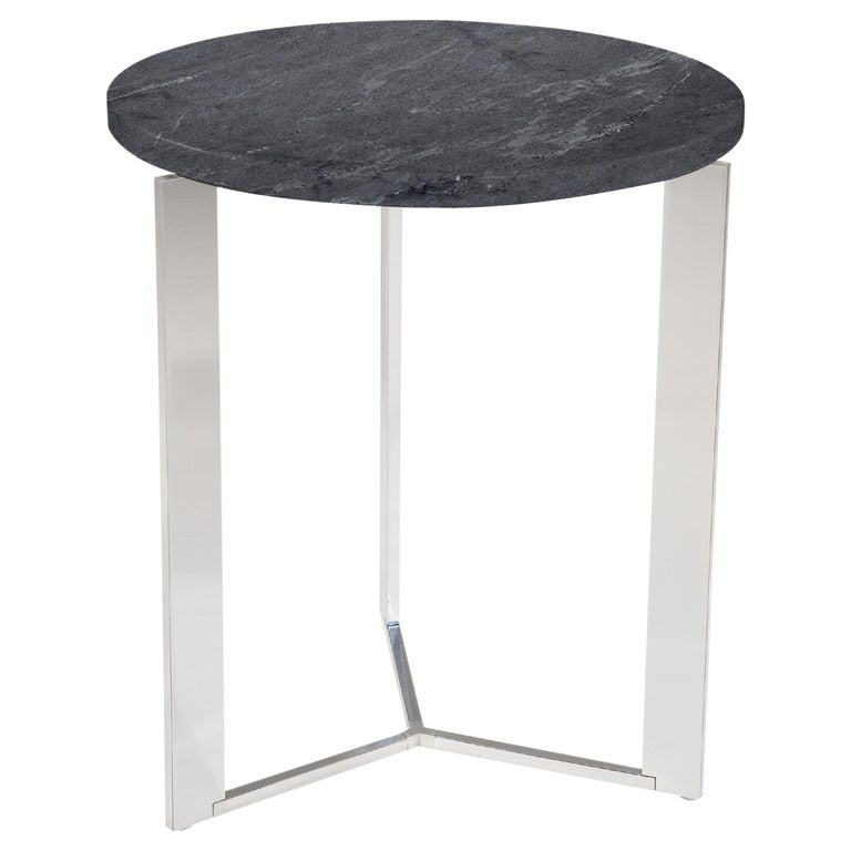 Amura Gong Round Table in Marble Top by Amura Lab For Sale