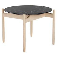 Amura Juli Medium Round Coffee table in Marble and Wood by Marconato & Zappa