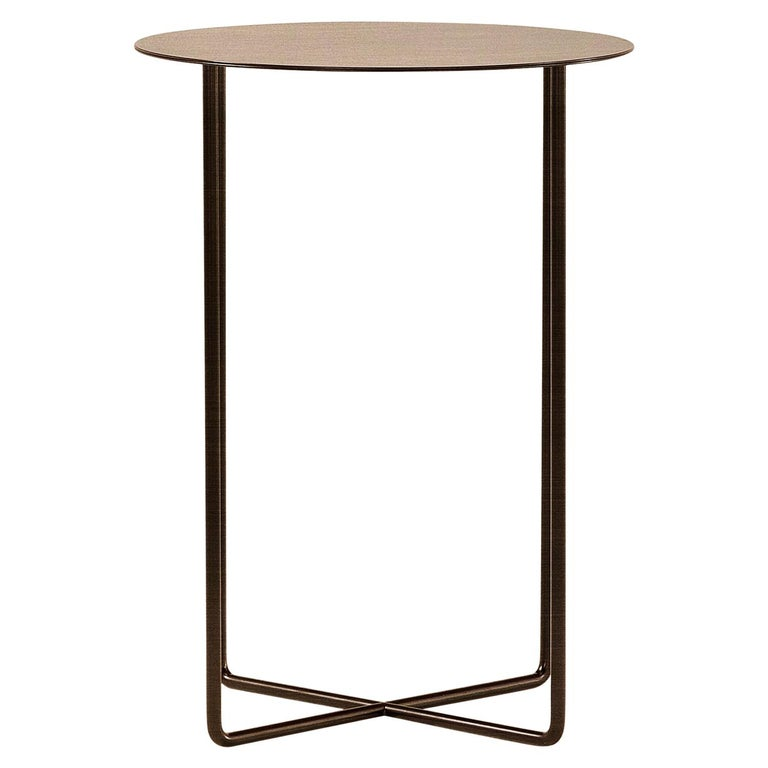 Amura Junsei Small Coffee Table in Metal by Amura Lab For Sale