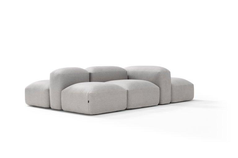 Modern Amura 'Lapis' Sofa in Light Grey by Emanuel Gargano & Anton Cristell For Sale