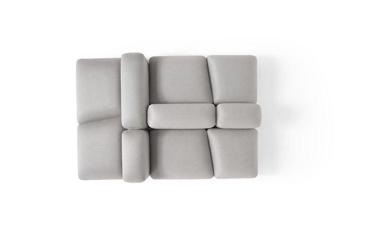 Italian Amura 'Lapis' Sofa in Light Grey by Emanuel Gargano & Anton Cristell For Sale