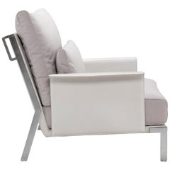 Amura 'Link' Armchair in Pale Gray by Maurizio Marconato & Terry Zappa