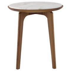 Amura Olga Coffee Table in Canaletto Walnut with Calacatta Marble Top, Amuralab