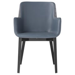 Amura 'Panis' Armchair in Blue Leather by Emanuel Gargano & Anton Cristell