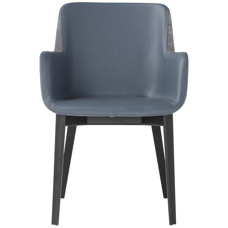 Amura 'Panis' Armchair in Blue Leather by Emanuel Gargano & Anton Cristell For Sale