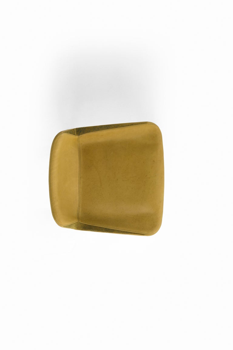 Hand-Crafted Amura 'Panis' Bar Stool in Melange Leather by Emanuel Gargano & Anton Cristell For Sale