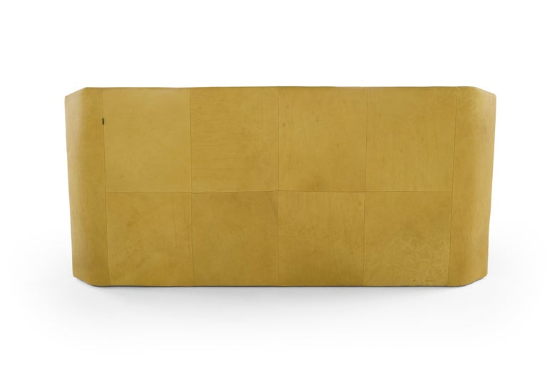 Modern Amura 'Panis' Bed in Blend Leather by Emanuel Gargano & Anton Cristell For Sale