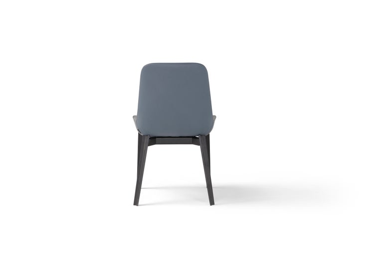 Italian Amura 'Panis' Chair in Blue Leather by Emanuel Gargano & Anton Cristell For Sale
