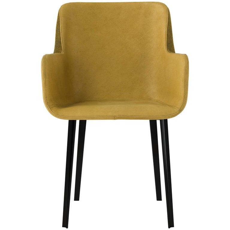 Amura 'Panis' Chair in Melange Leather by Emanuel Gargano & Anton Cristell For Sale