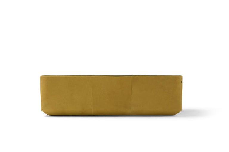 Italian Amura 'Panis' Four-Seat Leather Sofa by Emanuel Gargano & Anton Cristell For Sale