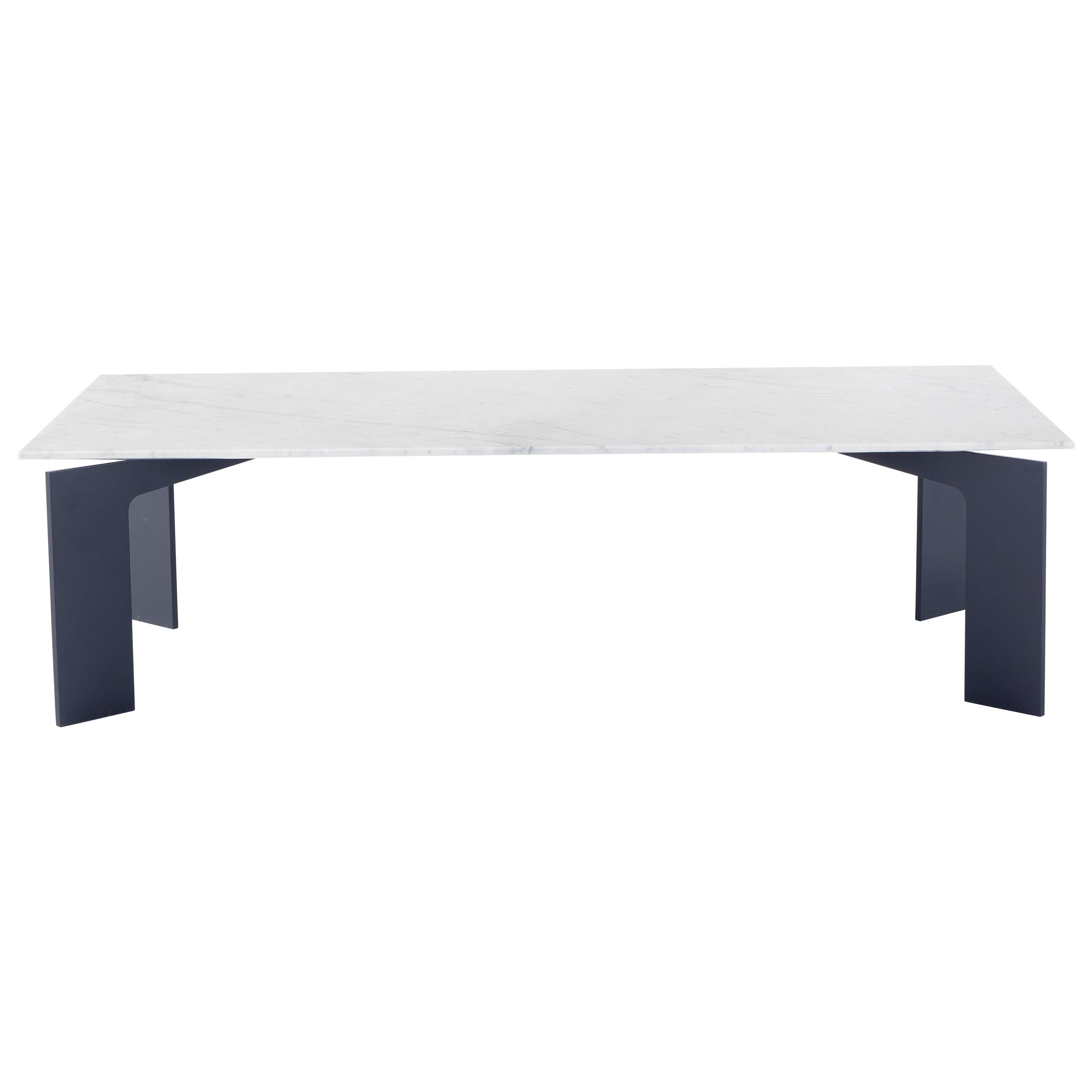 Amura 'Range' Coffee Table in Carrara Marble and Metal by Marconato & Zappa