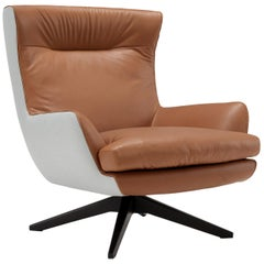 Amura 'Rosemary' Lounge Armchair in Mid Brown by Emanuel Gargano