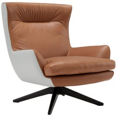 Amura 'Rosemary' Lounge Armchair in Mid Brown by Emanuel Gargano