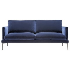 Amura 'Segno' Sofa in Blue Velvet by Amura 'Lab