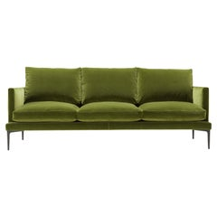 Amura 'Segno' Sofa in Olive Green Velvet by Amura Lab