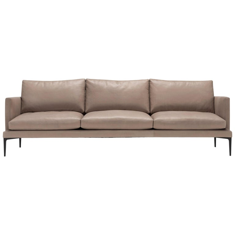 Admirable Amura Segno Sofa In Taupe Leather By Amura Lab 1Stdibs New York Home Interior And Landscaping Eliaenasavecom