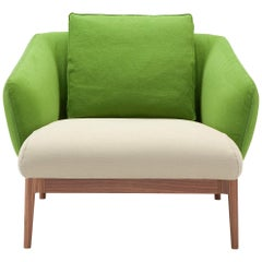 Amura 'Theo' Armchair in Green and Ivory by Maurizio Marconato & Terry Zappa
