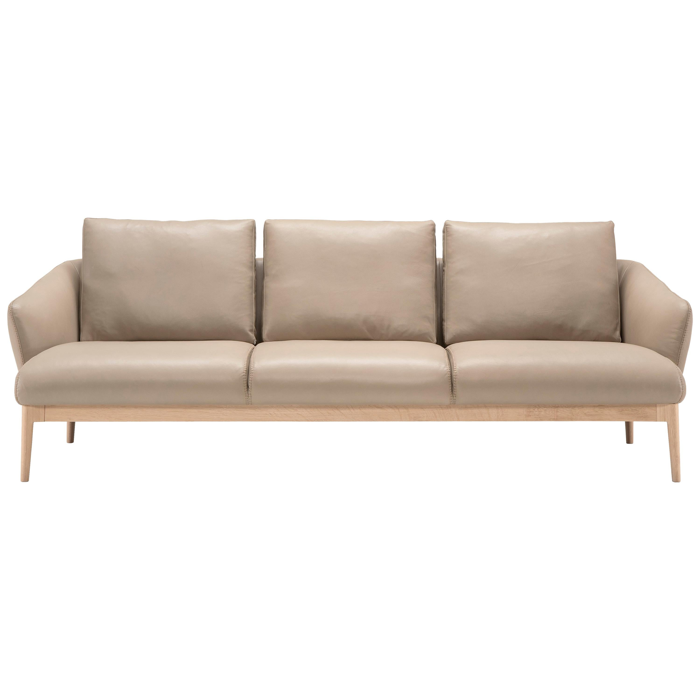 Amura 'Theo' Sofa in Tan Leather by Maurizio Marconato & Terry Zappa