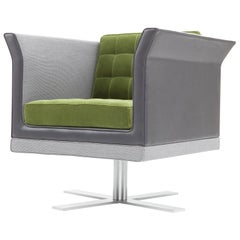 Amura 'Tiffany' Armchair in Gray & Green by Luca Scacchetti