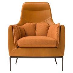 Amura 'Tulip' Armchair in Orange by Luca Scacchetti