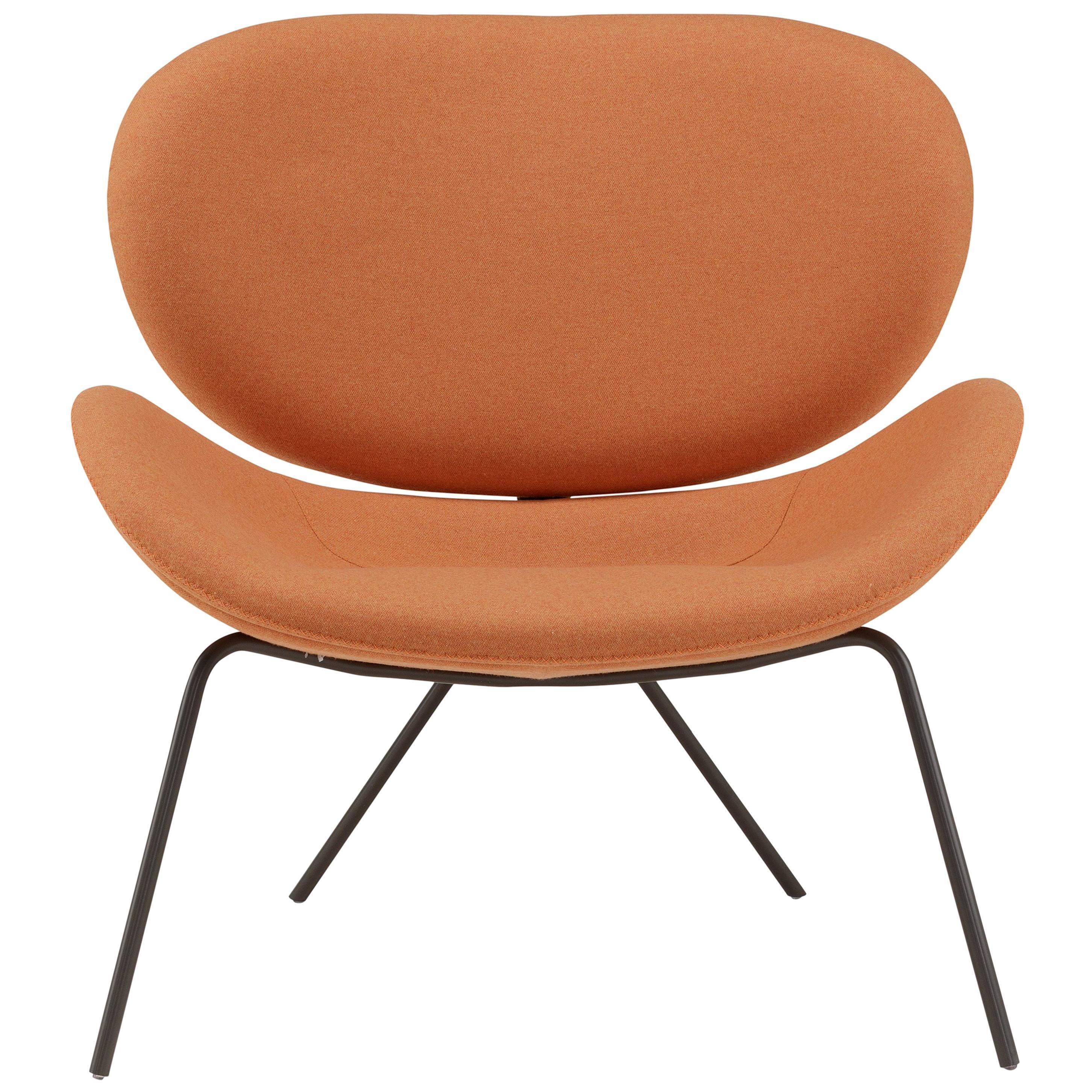 Amura 'Uchiwa' Chair in Orange Fabric by Andrea Quaglio & Manuela Simonelli