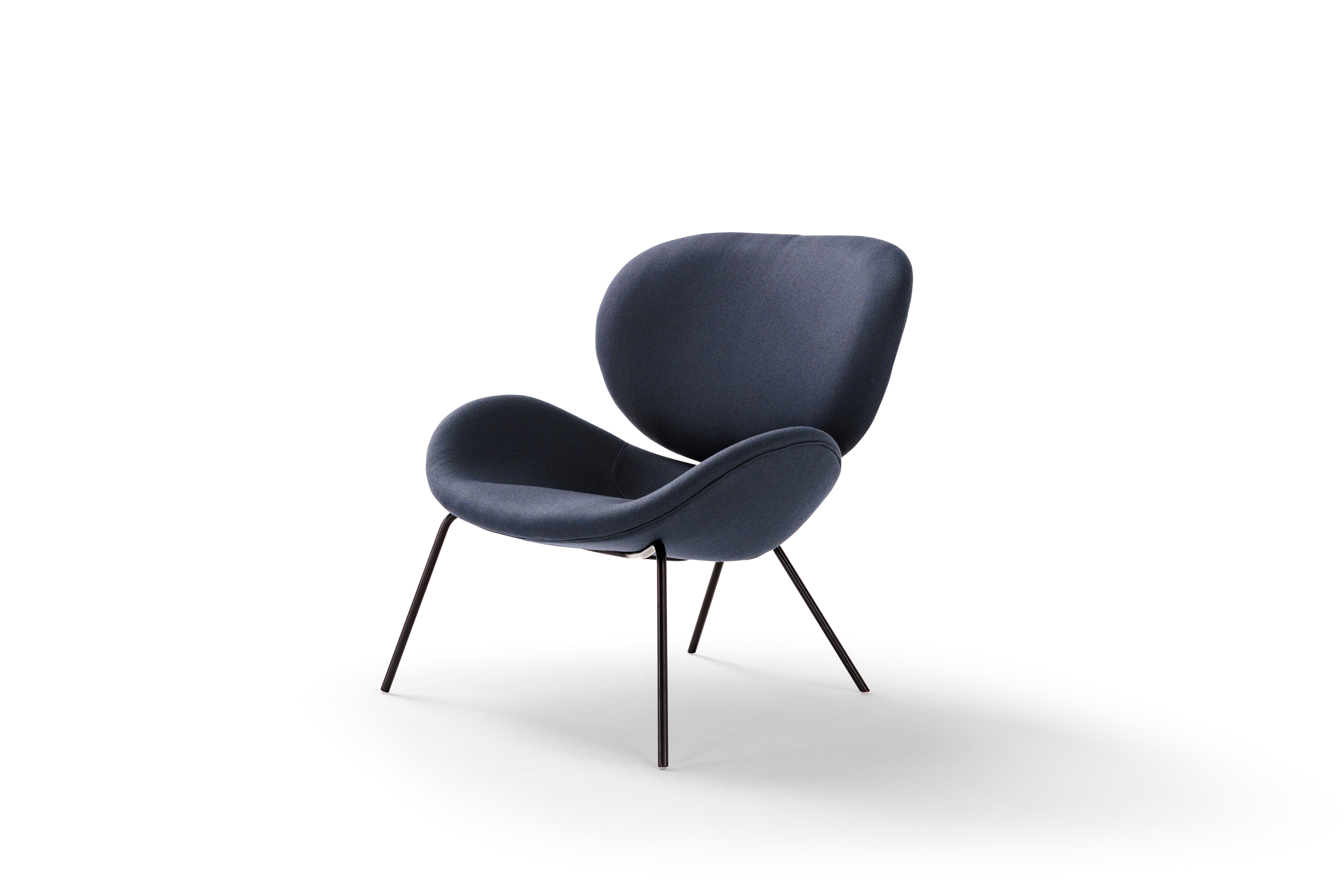 Amura 'Uchiwa' Chair in Blue Fabric by Andrea Quaglio & Manuela Simonelli