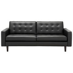 Amura 'Urano' Sofa in Black Leather by Amura 'Lab