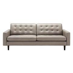 Amura 'Urano' Sofa in Pale Gray Leather by Amura 'Lab