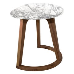 Amura Virgola High Table in Marble Top by Amura Lab
