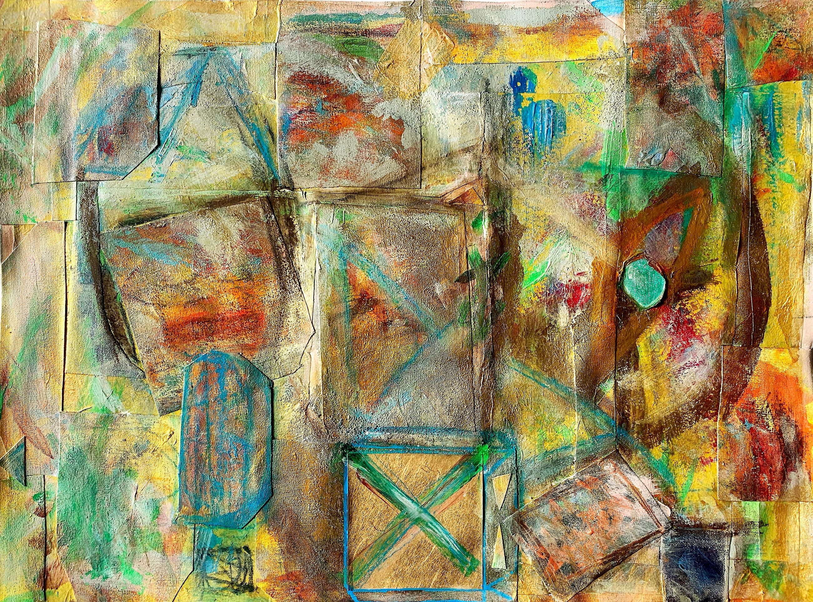 The Third Eye, Contemporary Abstract Painting on Canvas