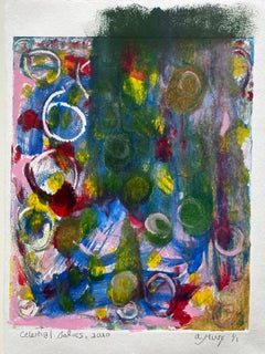 Celestial Bodies, Monotype, Contemporary Color Abstract Work on Paper, Ed of 1