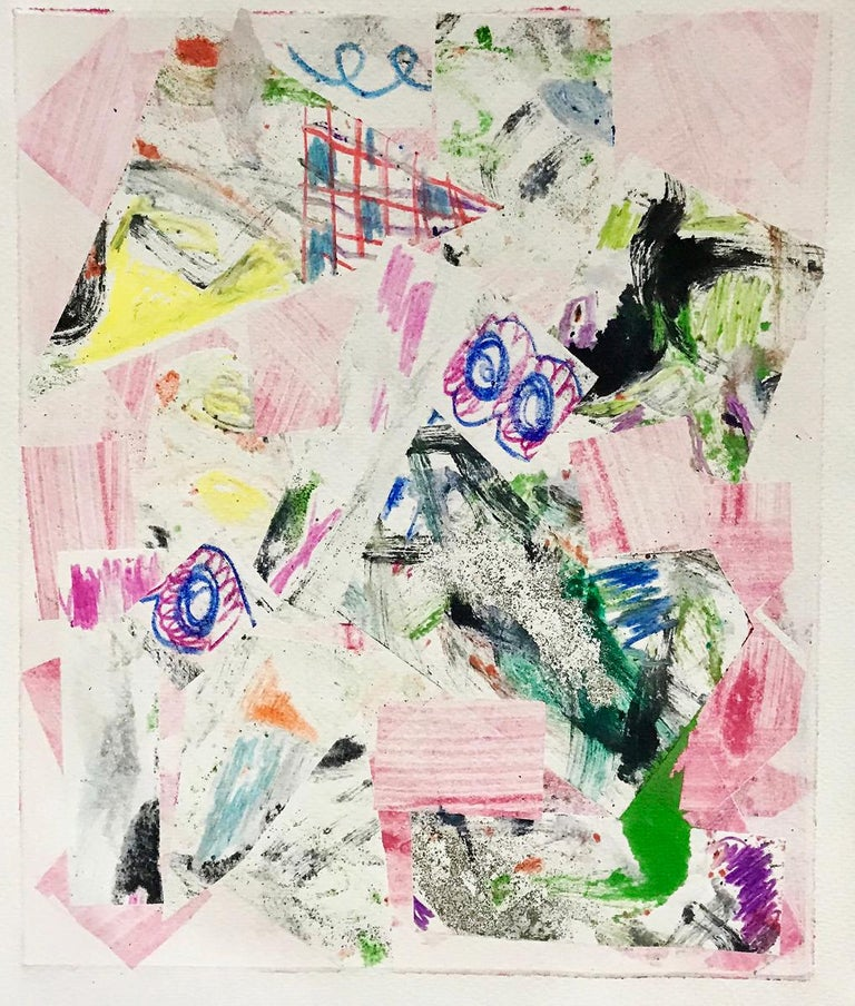 A work on paper, Change by a.muse is about the push-pull relationship of resistance, acceptance, and necessity of change  which often invigorates and invites energy.   This is a an abstract work on paper, a contemporary piece, original print, 1/1,