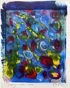 Floating on Water, Monotype, Contemporary Abstract Color Work on Paper, Ed of 1