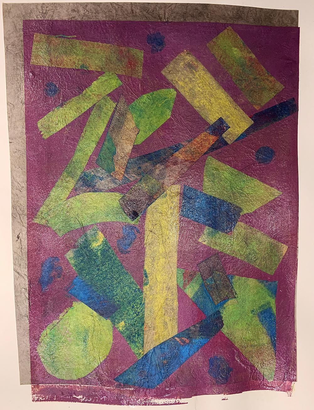 Intuition, Monotype, Unique Contemporary Abstract Work on Paper, Original Print