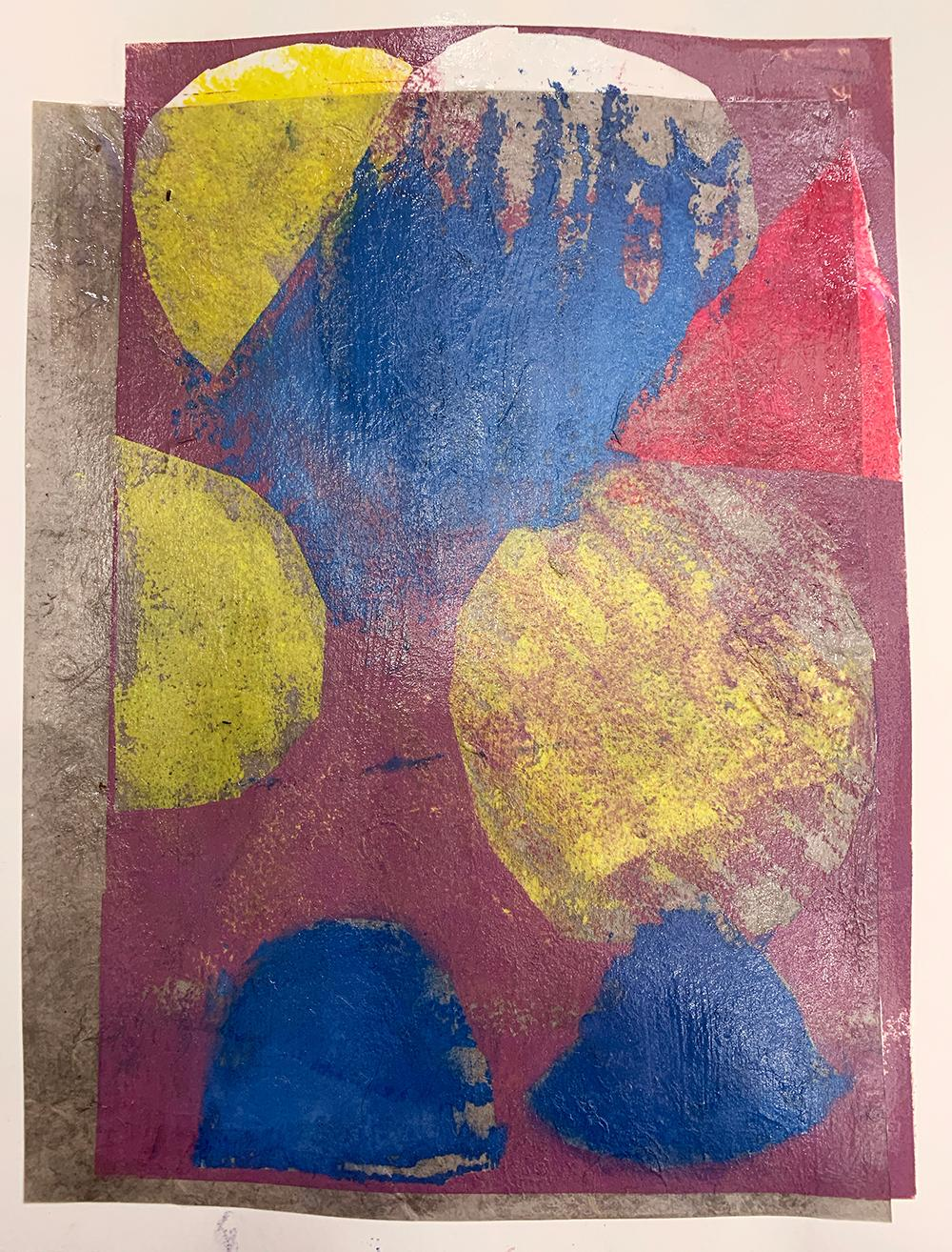 Love Me Tender, Unique Monotype, Contemporary Abstract Work on Paper, Ed of 1