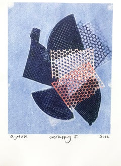 Overlapping Ji, Work on Paper, Abstract Contemporary Monotype, Ed 1/ 1