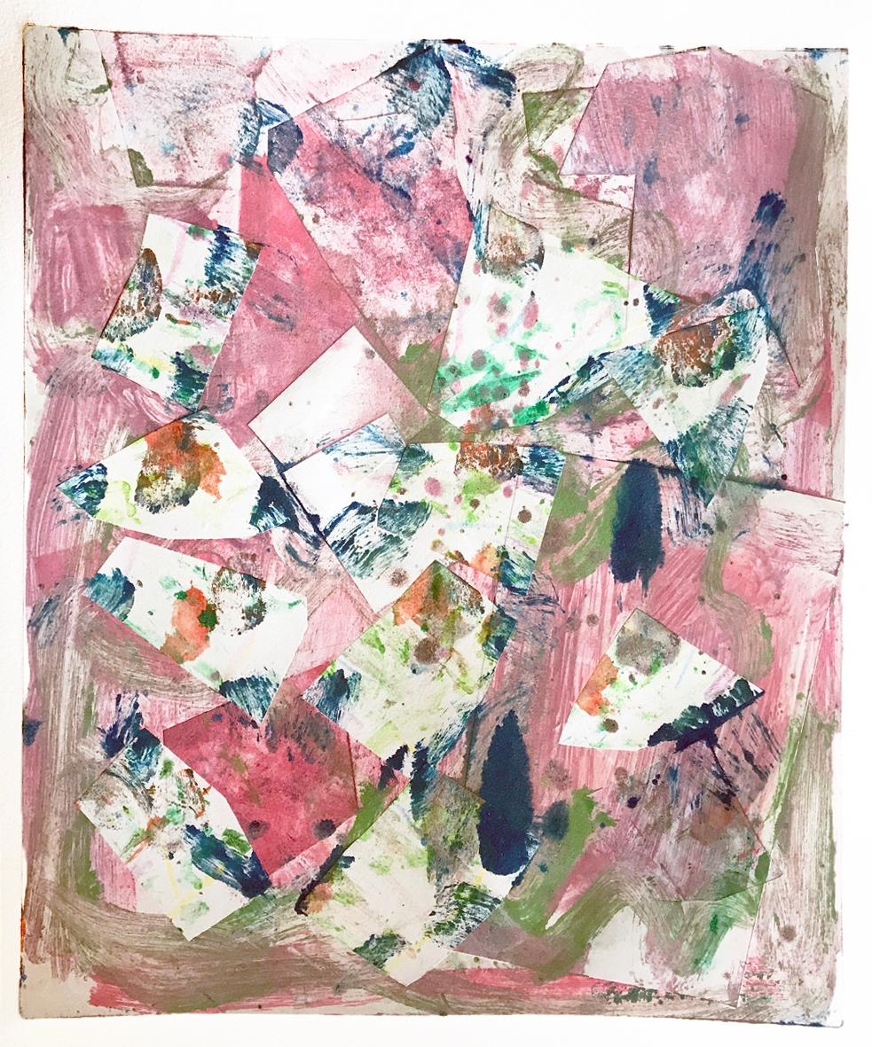 Serendipity, Contemporary Colorful Work on Paper, Original Abstract Monotype