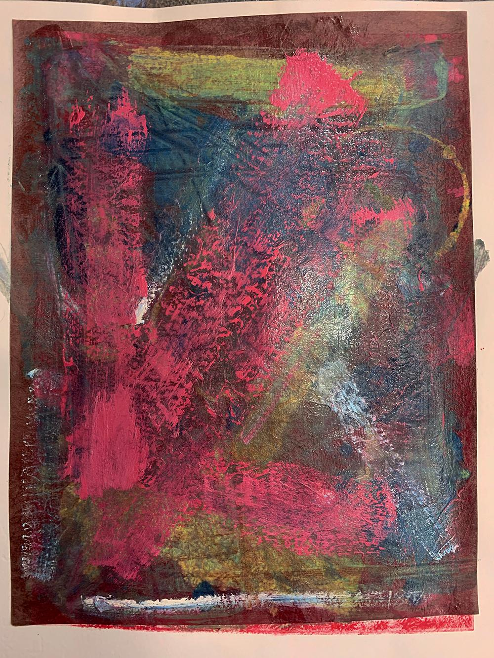 Tell Me, Unique Monotype, Contemporary Abstract Work on Paper, Original Print