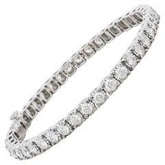 Amwaj 18 Karat White Gold Bracelet with Round Diamonds